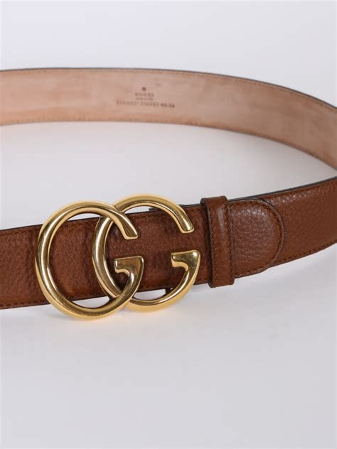 gucci brown leather gg buckle belt 85 luxury bags