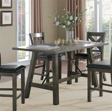 counter height rectangular table sets homelegance seaford rectangular counter height dining set