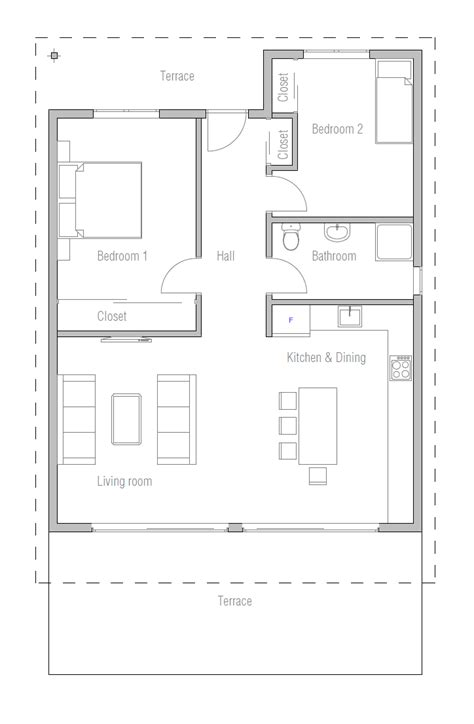 economical floor plans affordable home plans small affordable home plan ch265