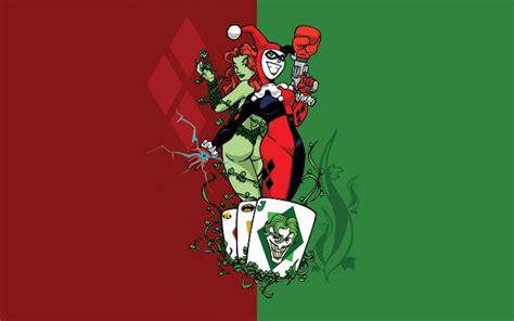 green wallpaper poison harley quinn poison ivy wallpaper dc comics pinterest