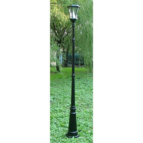 gama sonic solar powered l post gama sonic 174 3 1 2 solar l post 159506 solar