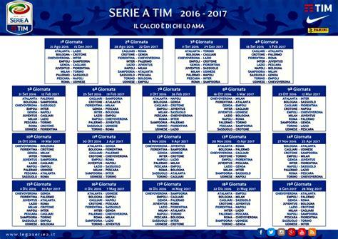 Calendario Genoa Calendario Serie A 2016 2017 Date Genoa Sdoria