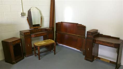 1920 Bedroom Furniture Vintage 1920s Deco Bedroom Set By Wheredufindthat On Etsy