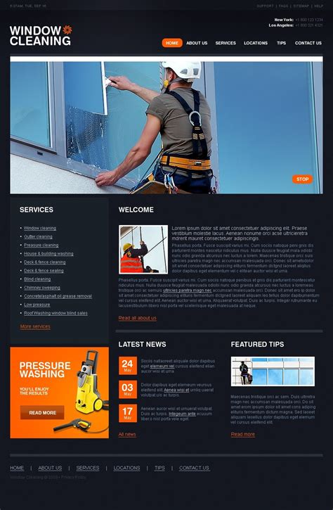 window cleaning website template web design templates