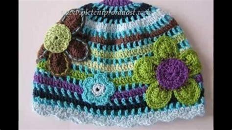 imagenes de flores tejidas a gancho modelos de gorros con flores tejidos a crochet para ni 241 a