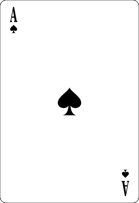 ace cards template ace of spades