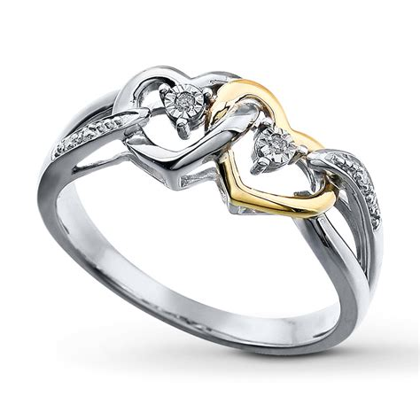 promise ring sterling silver 10k gold