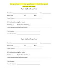 test results form template negative hiv test results form fill printable