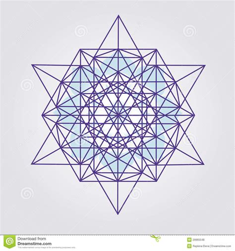 star tetrahedron design royalty free stock photos image