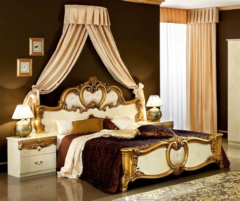 camel group barocco barocco ivory  gold italian bed bedsdirectuknet
