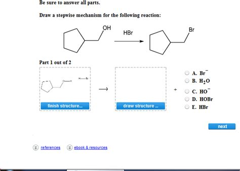 doodle how to make mechanism be sure to answer all parts draw a stepwise mechanism