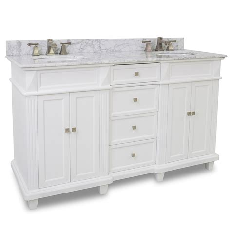 white double bathroom vanity 60 quot jupiter double vanity white