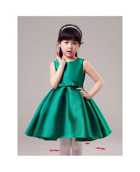 simple black short taffeta flower girl dress gemgrace