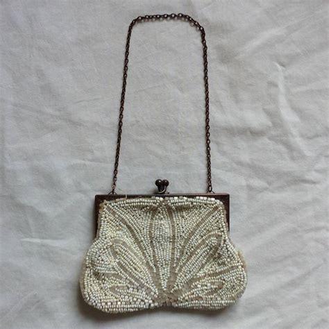 1920s beaded purse vintage 1920 s white beaded purse by iamia