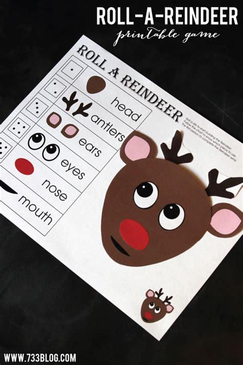 Printable Reindeer Math Games   roll a reindeer printable game inspiration made simple