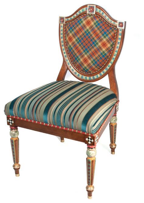 eclectic dining chairs highland shield back chair mackenzie childs eclectic