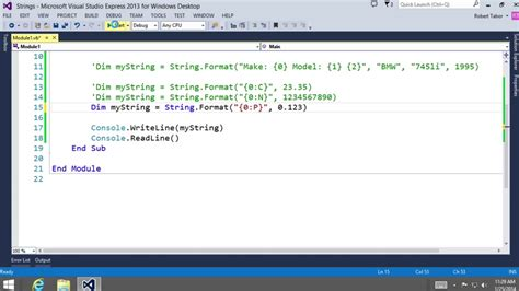 format date visual basic visual basic fundamentals for absolute beginners 13