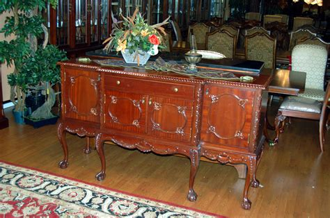 chippendale dining room set 11pc mahogany dining room set chippendale china buffet ebay