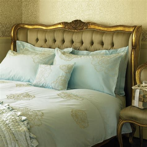 versailles gold upholstered bed bedroom company