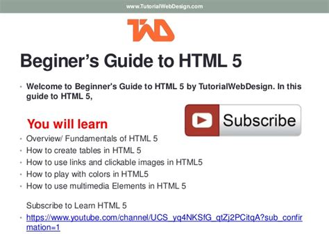 html tutorial guide beginners guide to html 5 video tutorials