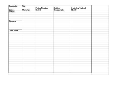 content analysis coding sheet template simpsons all seasons german