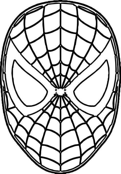spiderman face coloring page peter parker the spectacular spider man annual vol 1 2