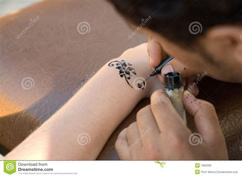 homemade henna tattoo temporary henna stock photos image 1962283