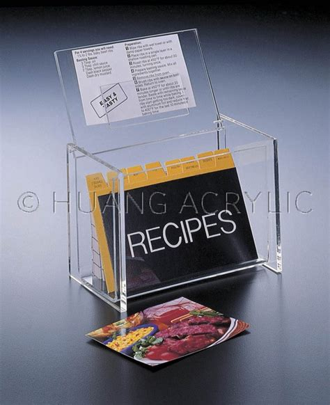 Lids E Gift Card - 6 x 4 lid display recipe box w cards kitchen and dining huang acrylic