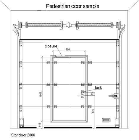 Garage Doors With Pedestrian Door Pedestrian Door Standoor