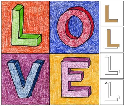 drawing crafts for robert indiana letters projects for