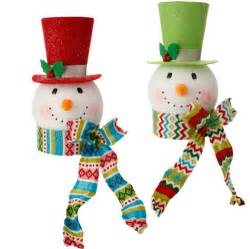snowman head christmas tree topper shelley b home and