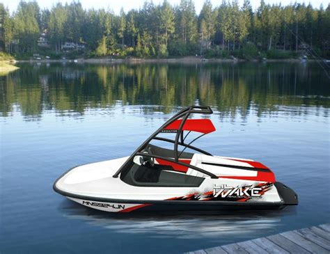 wake boat engines quot worlds smallest wakeboard boat 787cc rotax powered
