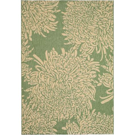 martha stewart living rugs martha stewart living martha stewart chrysanthemum green beige 4 ft x 5 ft 7 in area rug