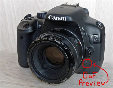canon 550d canon where is my dof button in 550d photography
