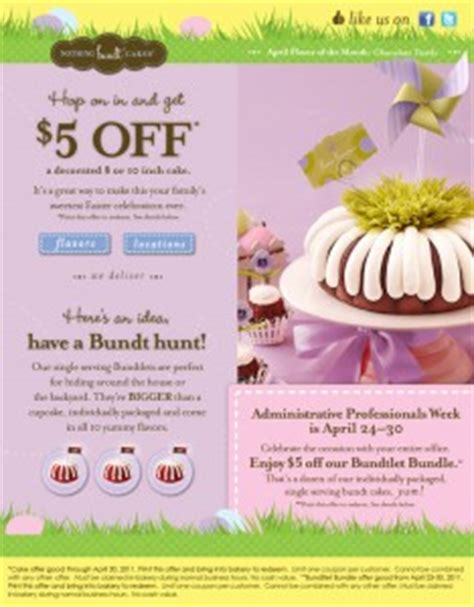 alicias deals in az save 5 at nothing bundt cakes