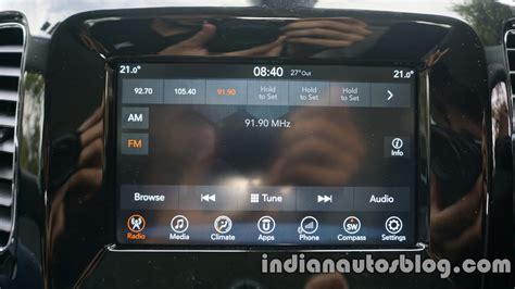 jeep compass uconnect touchscreen review indian autos