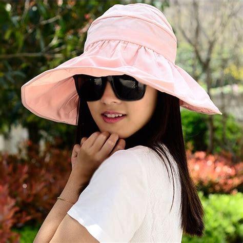 Topi Pantai Wanita topi pantai wanita anti uv pink jakartanotebook