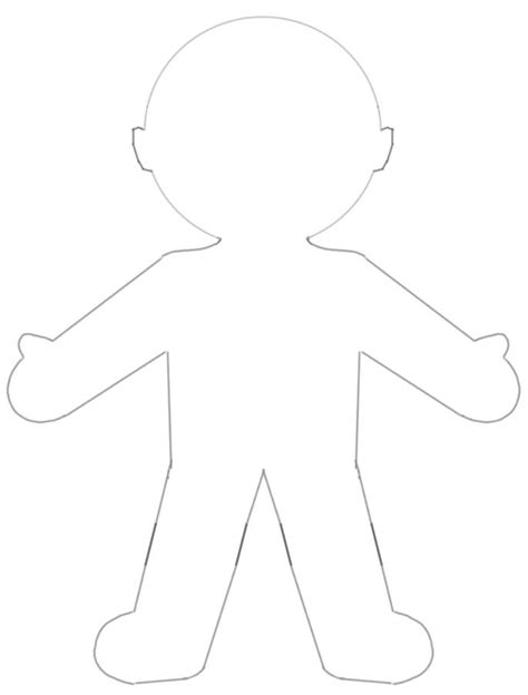 blank paper doll template busy kids happy mom