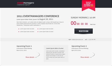12 best event landing page templates themes free