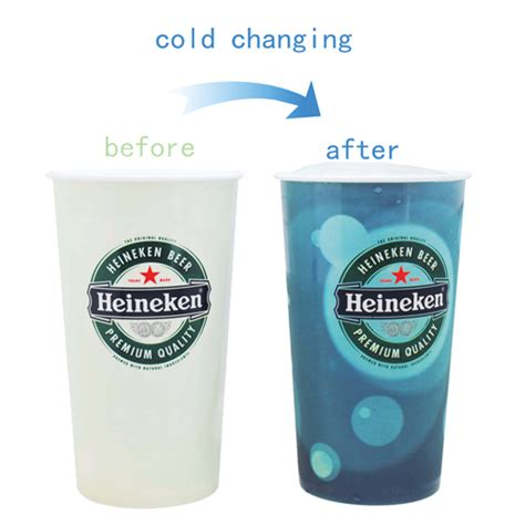 color cup promo catering colour changing plastic cup 600ml 22oz