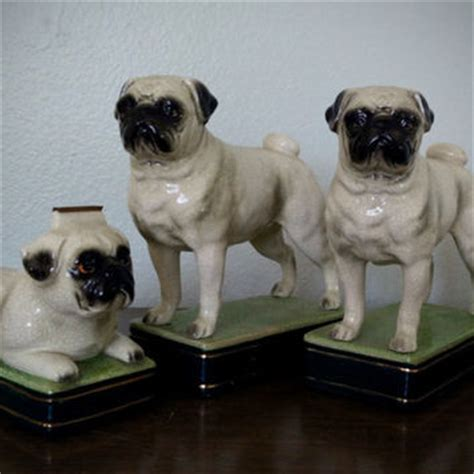 pug puppies san francisco best vintage made in japan figurines products on wanelo