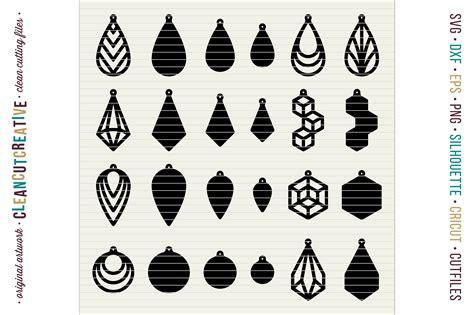 Faux Leather Earring set of 24 faux leather earrings svg d design bundles