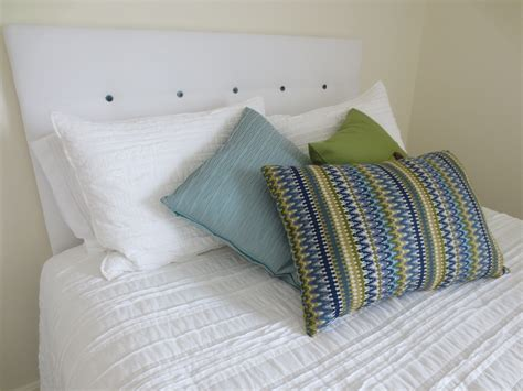 make your own tufted headboard white lights on wednesday