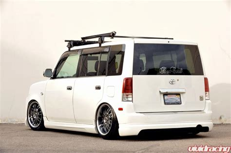vip scion xb xb 4x100 17x8 staggered wheels and stretched tires