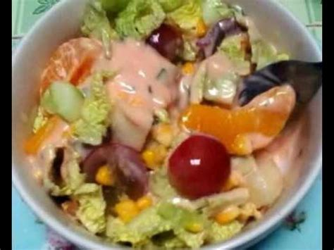 cara membuat salad sayur resep cara membuat salad buah sayur pizza hut youtube