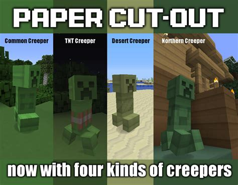 How To Make A Minecraft Out Of Paper - paper cut out texture pack 1 5 2 minecraftdata