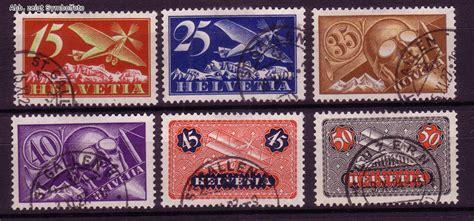 Brief Schweiz Günstig Briefmarken Schweiz Michel Nr 179 184 Flugpostmarken 1923 Gestempelt G 252 Nstig Kaufen Im
