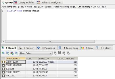 membuat query di sqlyog membuat database menggunakan sqlyog sistem informasi