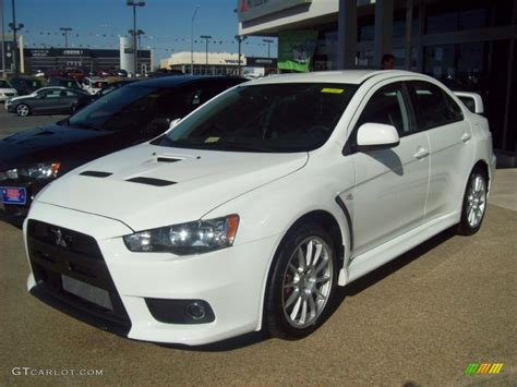 mitsubishi evo white wicked white 2012 mitsubishi lancer evolution gsr exterior