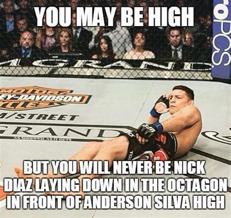 Anderson Silva Meme - you may be high but you will never be nick diaz laying